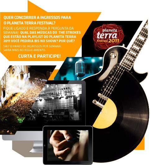 Concurso Cultural para ingressos do Planeta Terra Festival