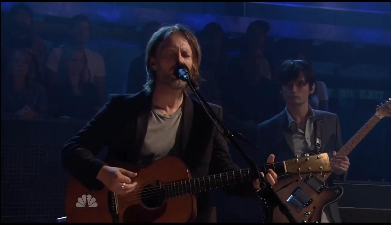 Confira o Radiohead se apresentando no Jimmy Fallon