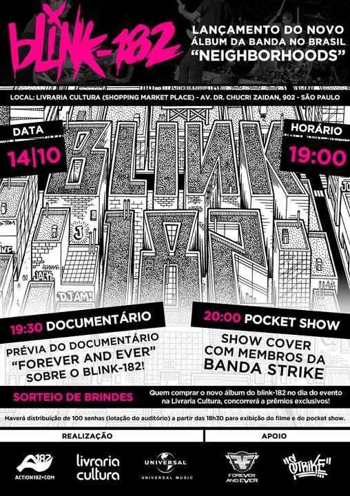 Blink-182 - Lançamento do Neighborhoods no Brasil