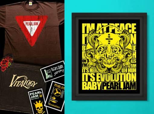 Promoção valendo kit do Pearl Jam