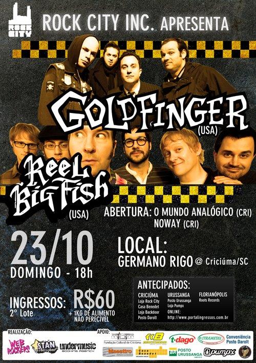 Reel Big Fish e Goldfinger em Criciúma