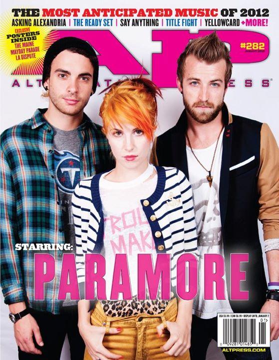 Paramore na capa da Alternative Press