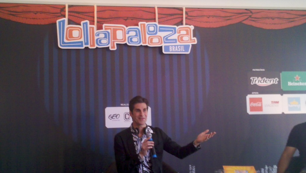 Perry Farrel na entrevista coletiva do Lollapalooza Brasil
