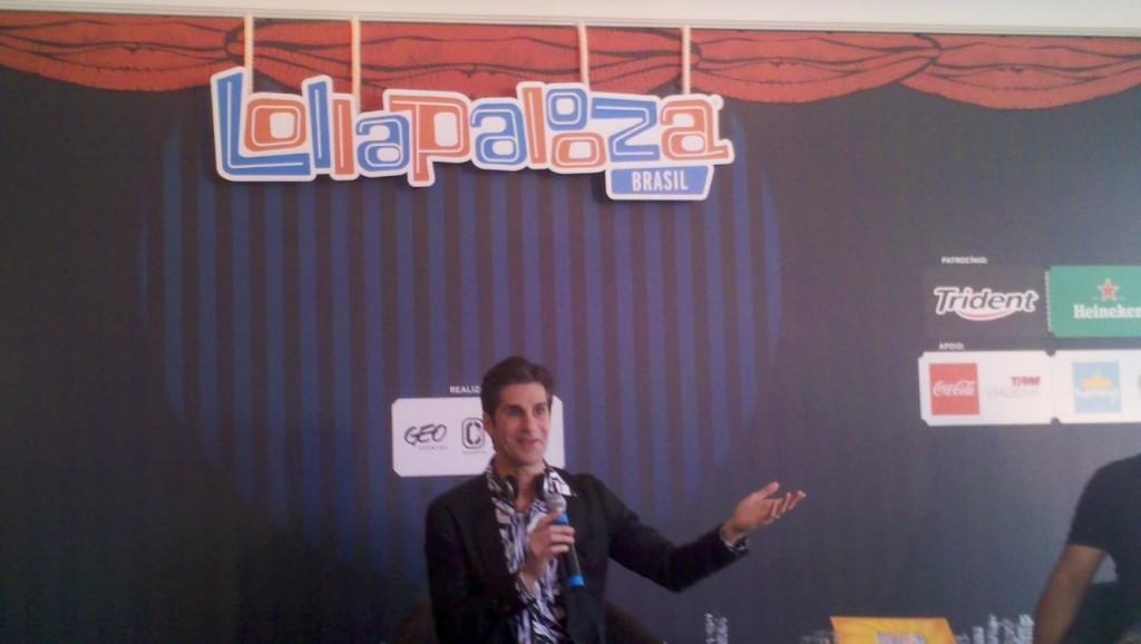 Perry Farrel na entrevista coletiva do Lollapalooza Brasil