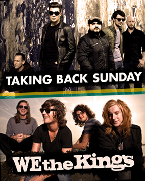 Taking Back Sunday e We The Kings no Brasil