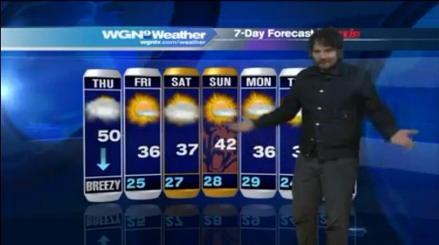 Frontman do Wilco Apresenta a Previsão do Tempo na TV