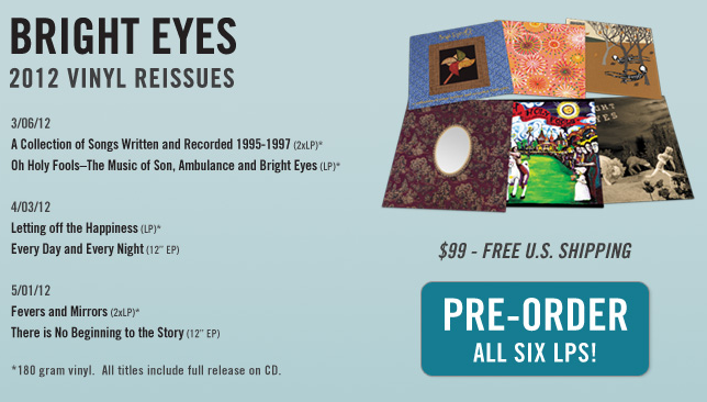 Bright Eyes - 2012 Vinyl Reissues