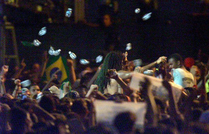 Carlinhos Brown no Rock in Rio 2001