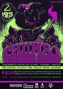 Lançamento do split Chumbo, em Santos