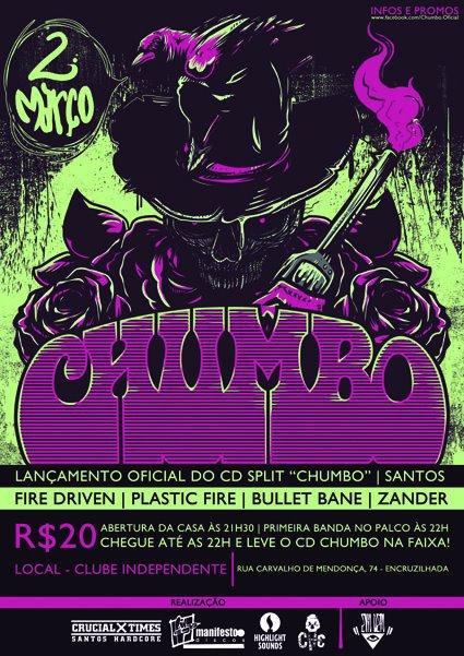 """Resenha: Lançamento do Split """"Chumbo"""" em Santos (02/03/12)"""