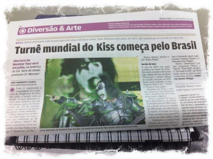 KISS vem ao Brasil
