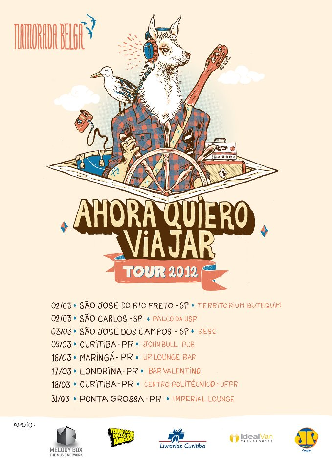 Namorada Belga - Ahora Quiero Viajar Tour 2012