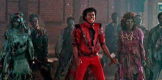 Michael Jackson no clipe de Thriller