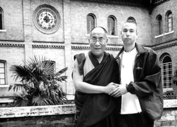 Foto de Adam Yauch com Dalai Lama