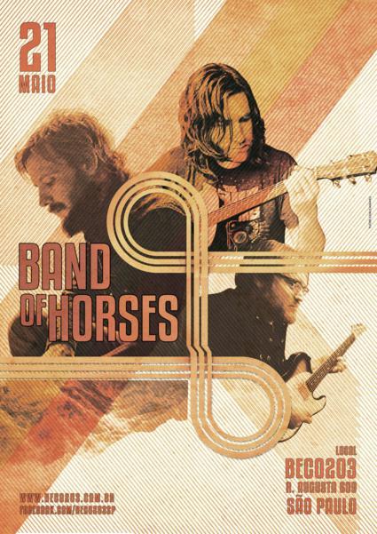 Mudança para o público no show do Band of Horses no Beco 203 SP