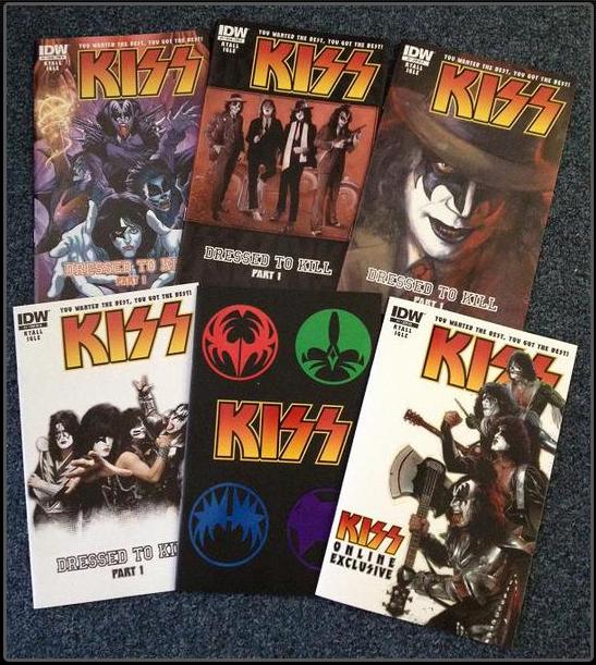 Capas da nova revista em quadrinhos do KISS