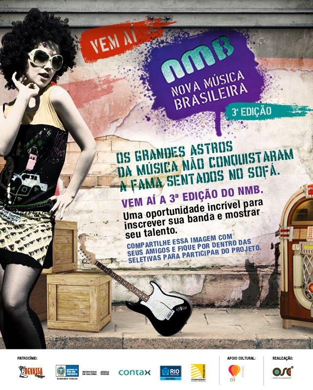 Nova Música Brasileira anuncia sua terceira edição