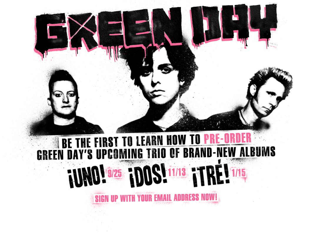 Saiba como comprar os três álbuns novos do Green Day