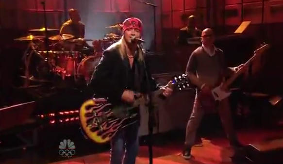 Bret Michaels no programa de Leno