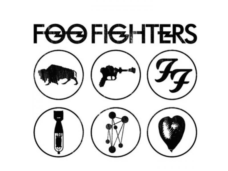 Estampa da camiseta do Foo Fighters