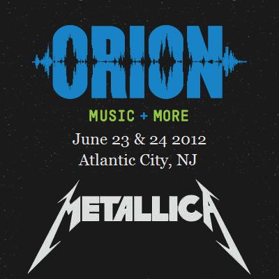 metallica fecha com a fusion tv para o festival orion music