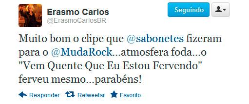 Sabonete é bem visto por Erasmo Carlos em clipe
