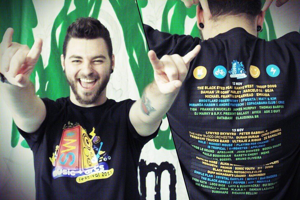 Camiseta do SWU 2011