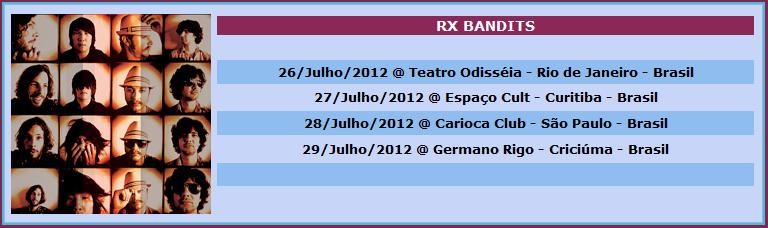 Rx Bandits no Brasil