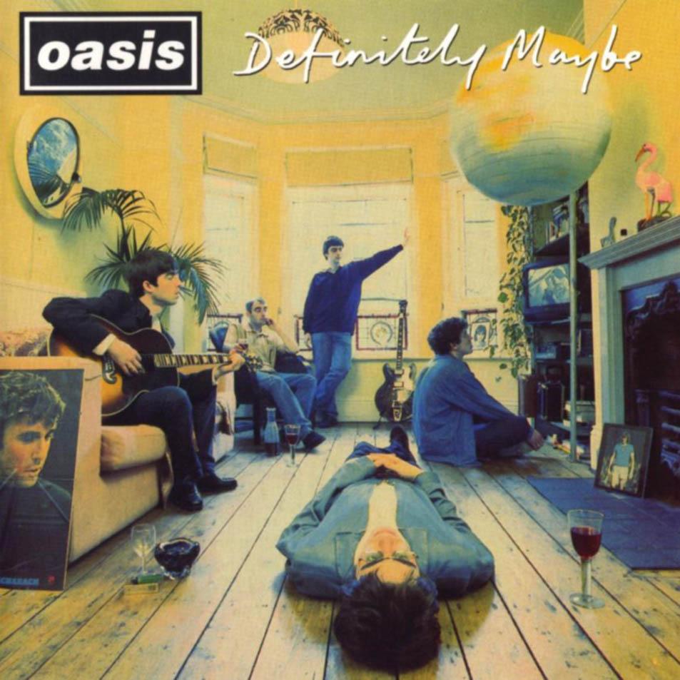 Capa do disco Definitely Maybe do Oasis