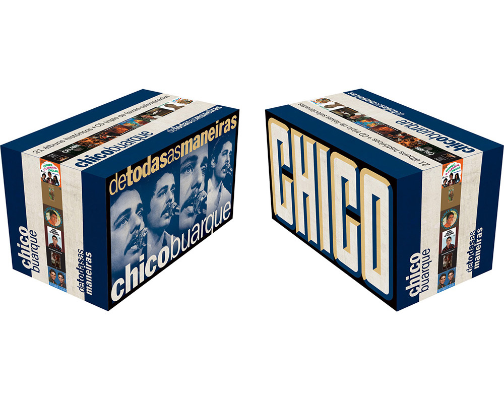 Chico Buarque lança caixa com 22 discos mais um CD triplo com raridades