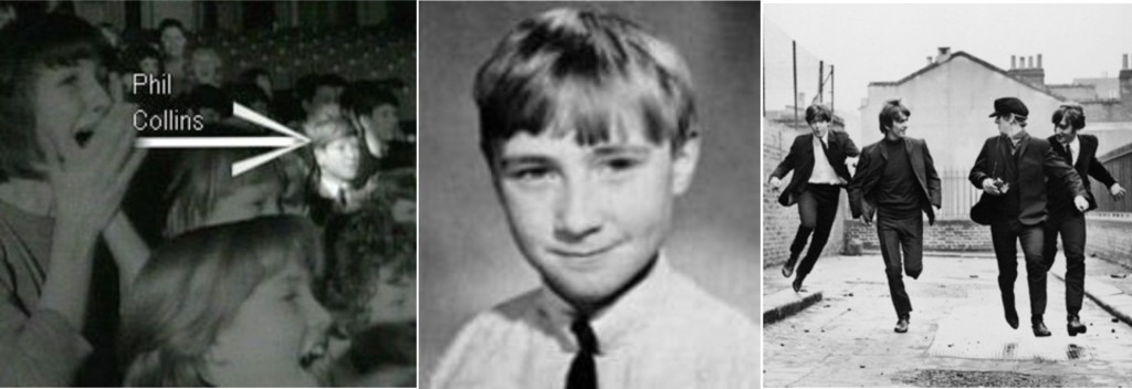 Phil Collins no filme dos Beatles A hard day nights
