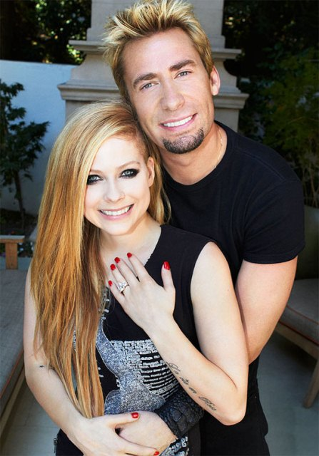 Avril Lavigne e Chad Kroeger, vocalista do Nickelback
