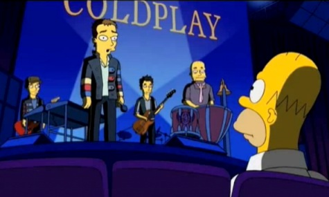 Coldplay nos Simpsons