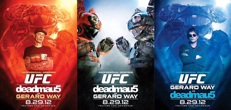 Gerard Way (My Chemical Romance) e deadmau5 no UFC