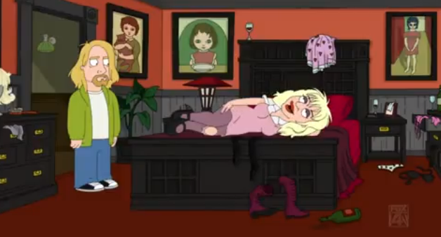Kurt Cobain e Courtney Love em The Cleveland Show