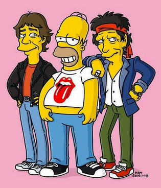 The Rolling Stones nos Simpsons