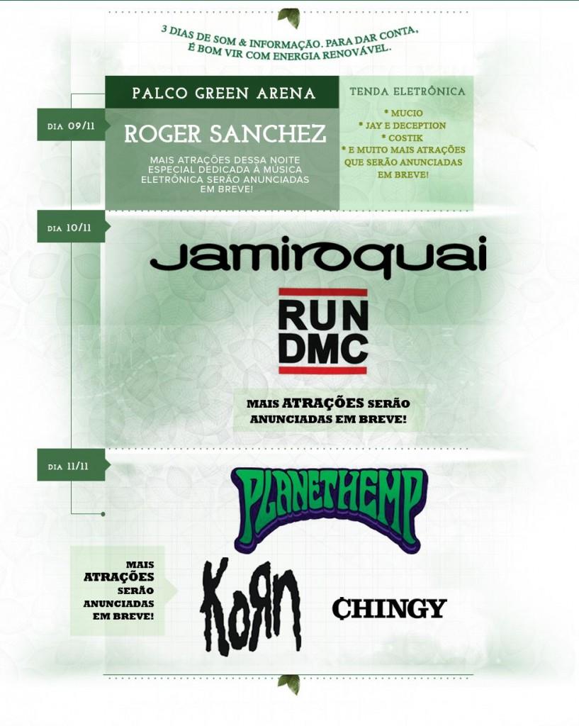 Line-up do GreenFest 2012