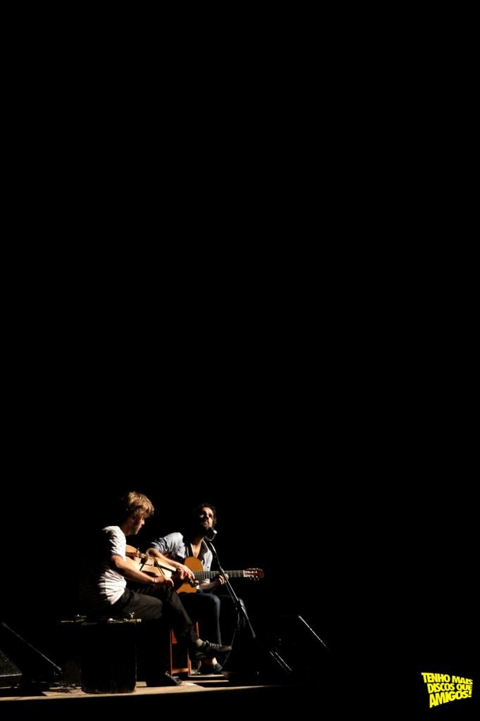 Marcelo Camelo e Thomas Rohrer no Recife