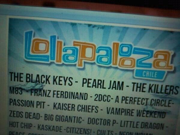 Possível line-up do Lollapalooza Chile 2013 vaza