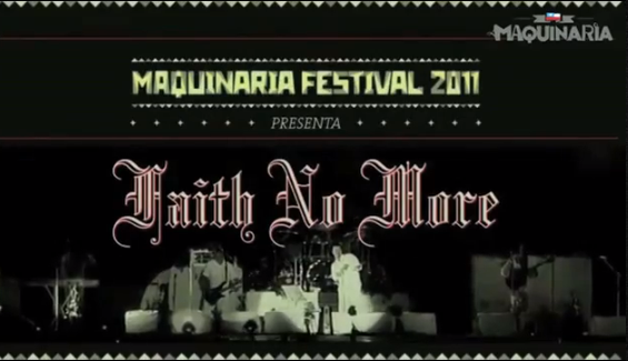 Faith No More - Just A Man no Maquinaria Chile