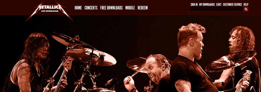 Metallica Live Downloads