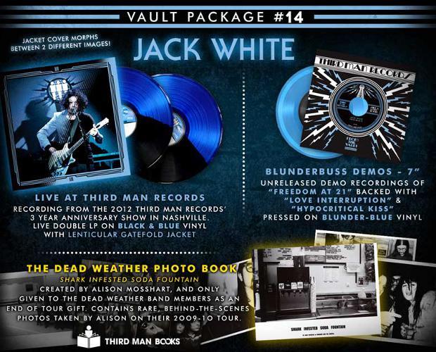 Jack White lança discos de vinil para os fãs da Third Man Records