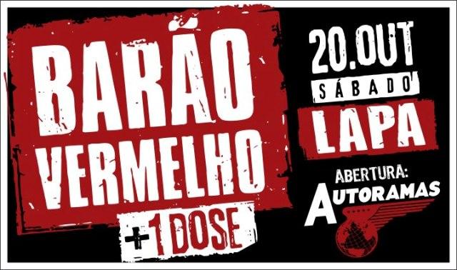 Com casa lotada e show fabuloso, Barão Vermelho marca sua volta aos palcos no Rio de Janeiro (20/10/12)