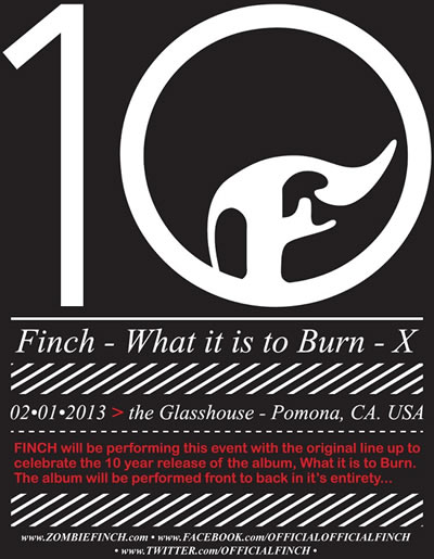 Finch retorna em 2013 para comemorar 10 anos do álbum de estreia da banda