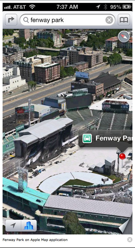 Fenway Park no Apple Maps