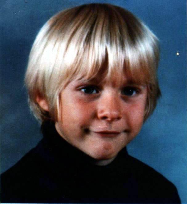 Kurt Cobain quando era criança