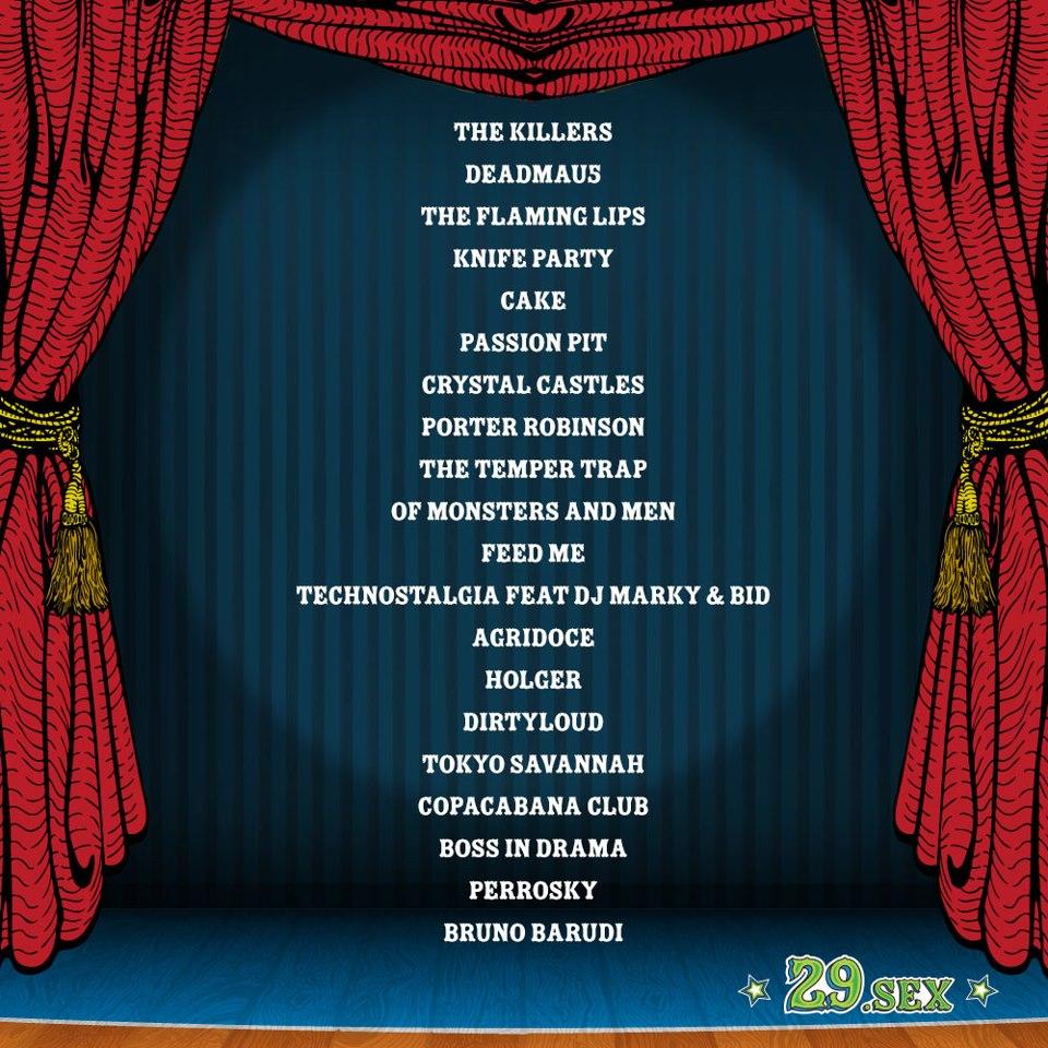 Line-up Lollapalooza Brasil, 29 de Março de 2013