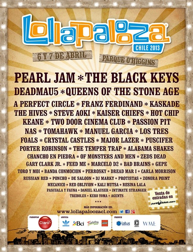 Line-up do Lollapalooza Chile