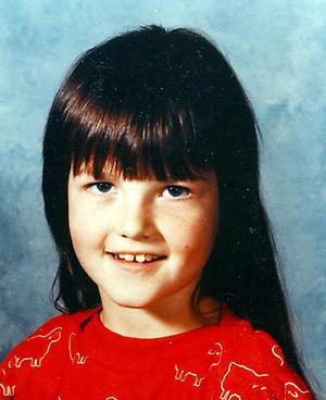 Meg White quando era criança