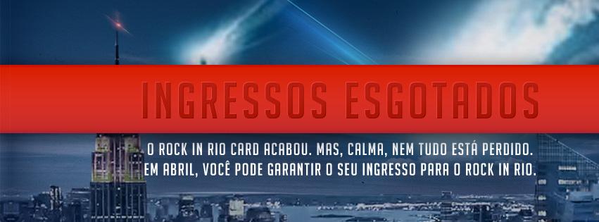 Rock in Rio Card estoga em 52 minutos
